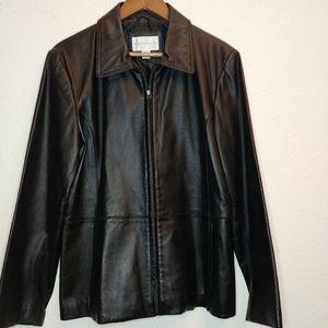 Worthington black leather jacket